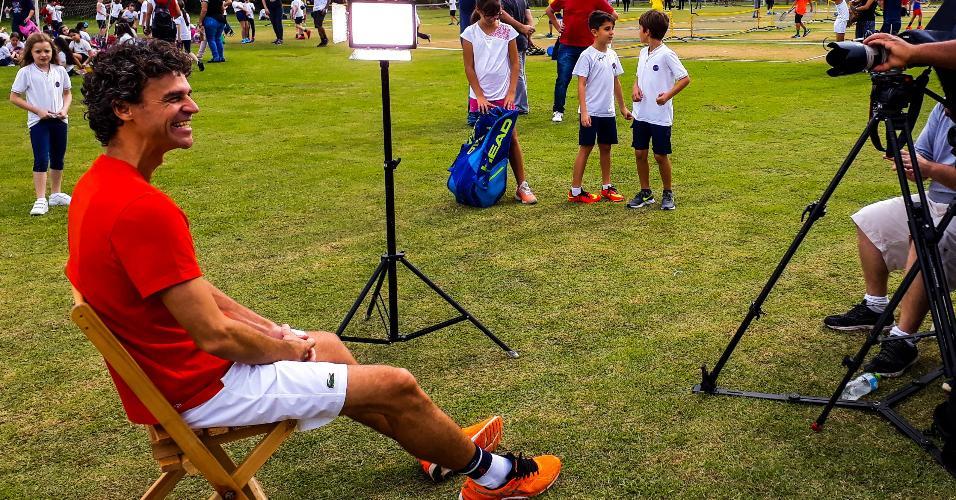 Gustavo Kuerten, em entrevista ao ESPORTE(ponto final)