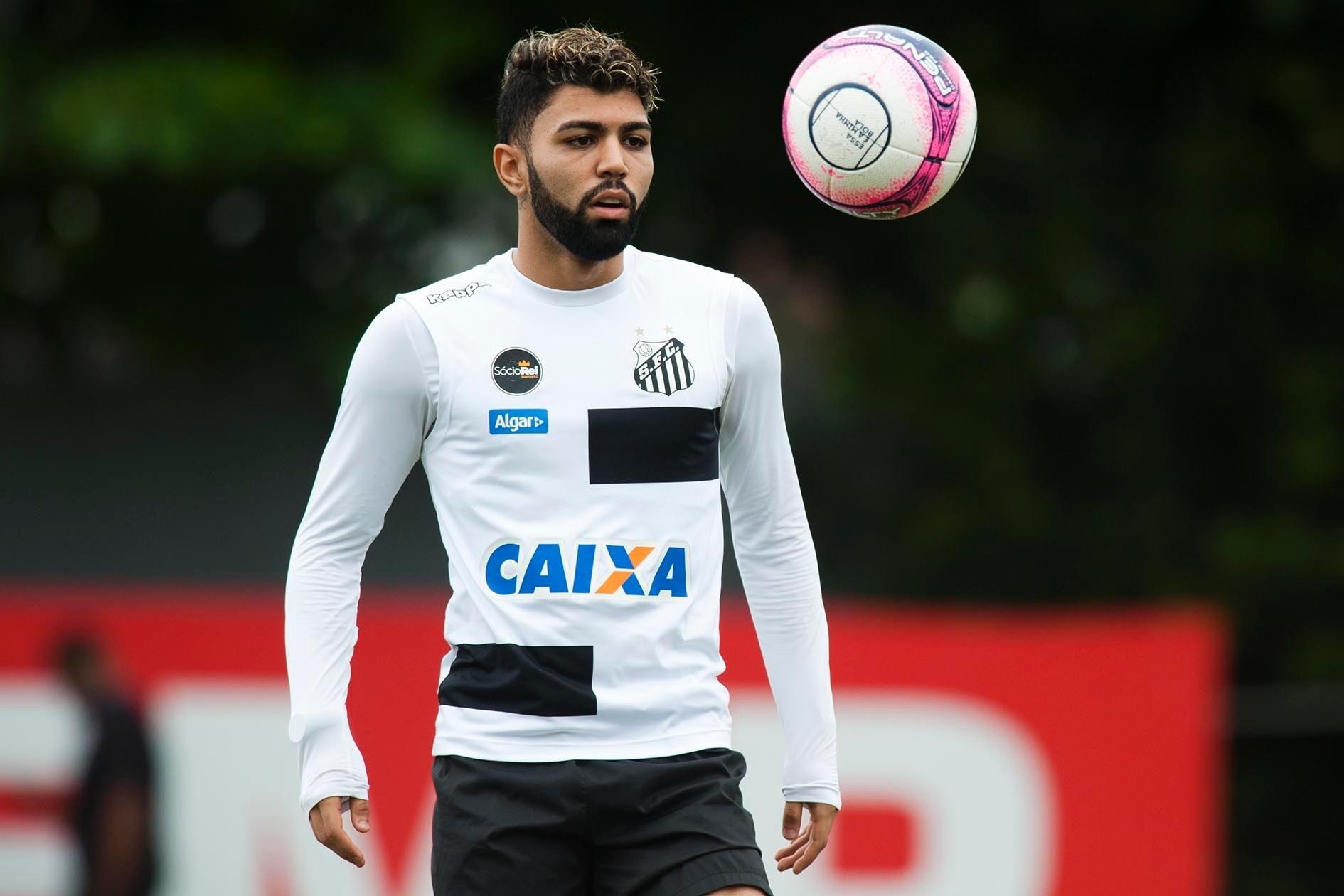 Gabigol é registrado no BID e pode reestrear pelo Santos contra o Palmeiras  - 30 01 2018 - UOL Esporte b61ef8d1099da