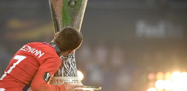 Atacante francês liderou o Atlético de Madrid na conquista da Liga Europa em maio - AFP PHOTO / FRANCK FIFE