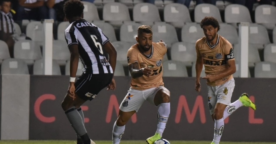 Gabriel, durante partida entre Santos e Botafogo