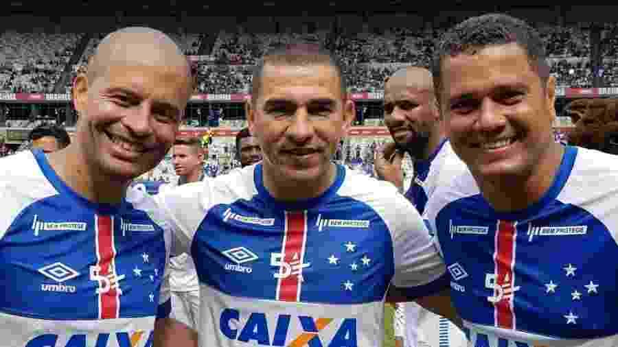 Ídolos como Alex, Aristzábal e Marcelo Ramos usaram as redes sociais para chamar torcida para o Mineirão - Cruzeiro/Divulgação