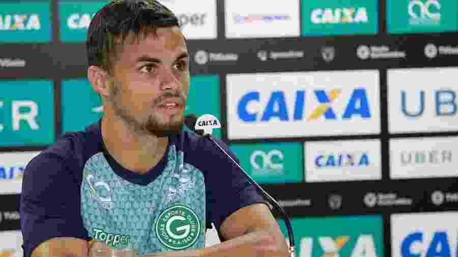 Michael, atacante do Goiás, durante entrevista coletiva - Rosiron Rodrigues/ GEC