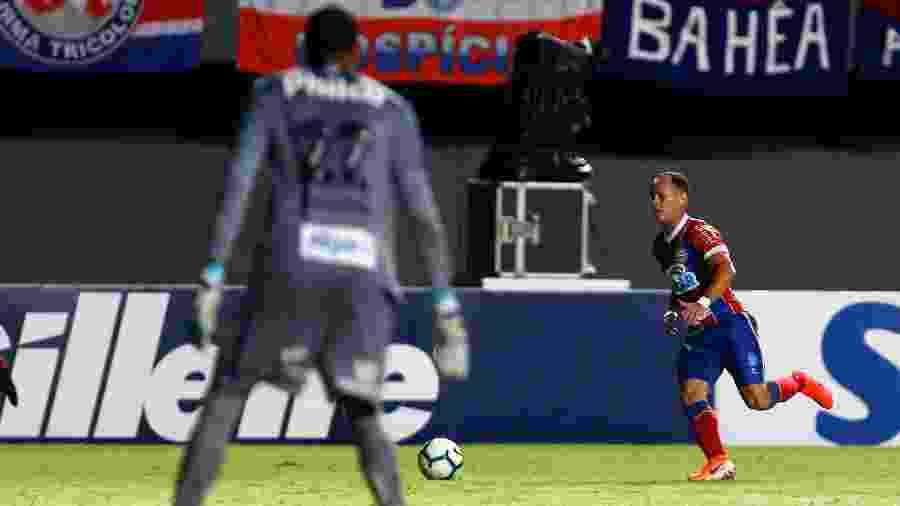 Contra o Santos, Guerra fez apenas a sua segunda partida com a camisa do Bahia - Felipe Oliveira / EC Bahia