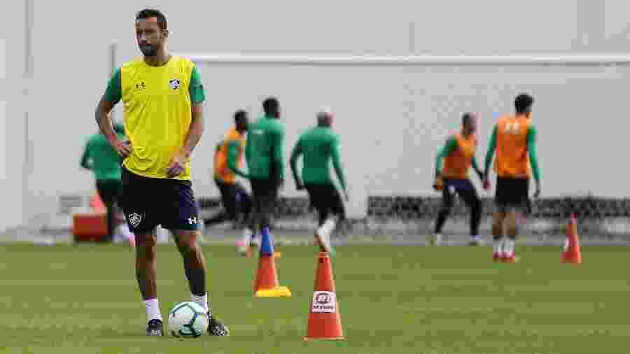 Nenê durante treinamento do Fluminense - LUCAS MERÇON / FLUMINENSE F.C.