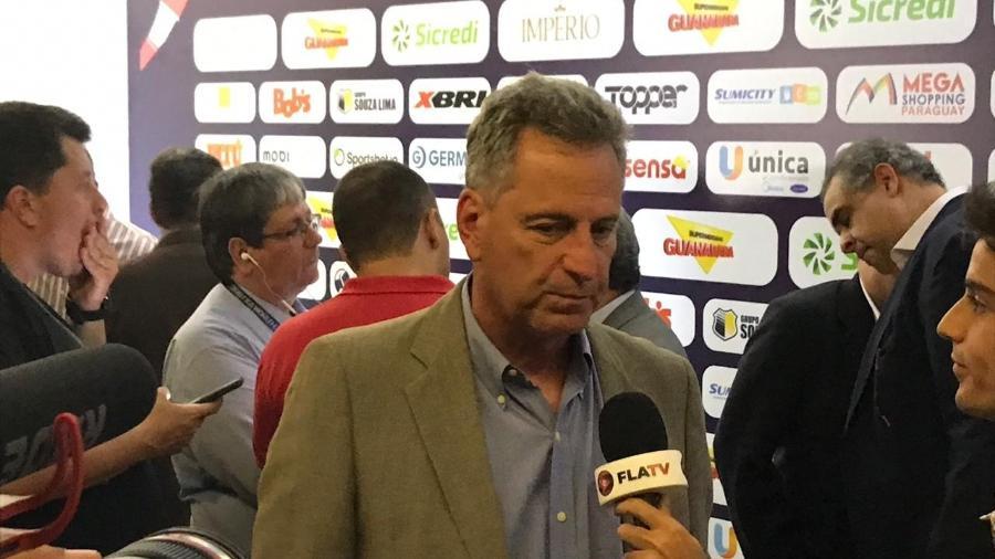 Rodolfo Landim, presidente do Flamengo, em cerimônia de abertura do Carioca 2020 - Bruno Braz / UOL