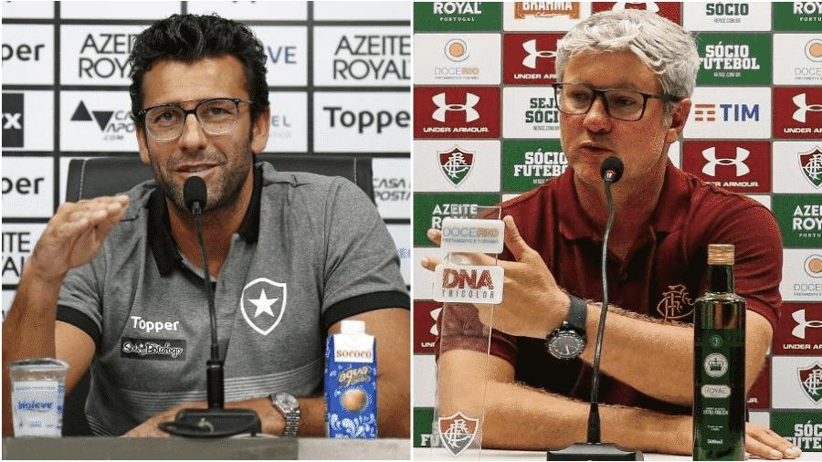 Técnicos de Botafogo e Fluminense, Alberto Valentim e Odair Hellmann encaram clássico por afirmação - Vitor Silva/BFR e Lucas Mercon/FFC