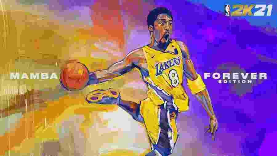 """Capa da Edição """"Mamba Forever Edition"""" do NBA 2k21, em homenagem a Kobe Bryant - Divulgação"""