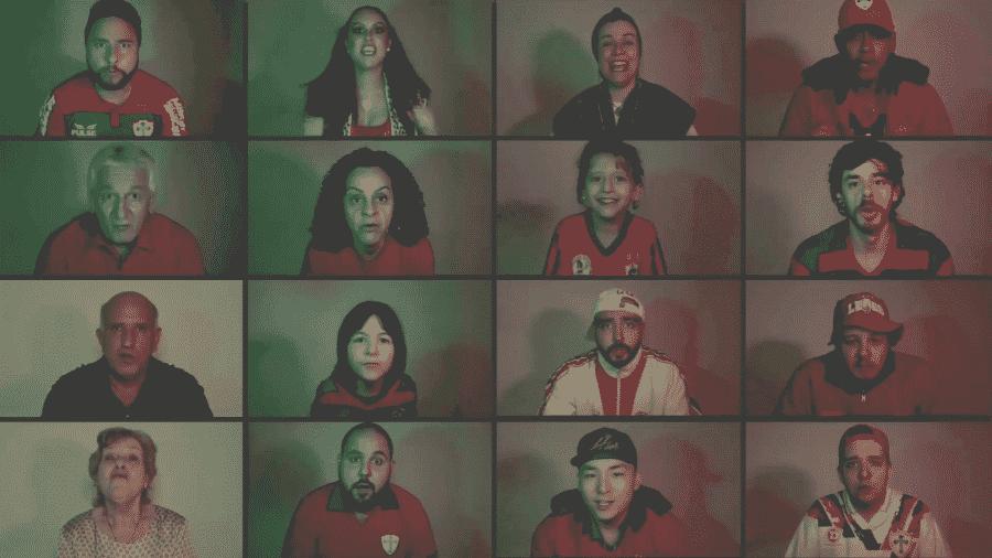 Torcedores da Portuguesa em vídeo comemorativo do clube - Reprodução