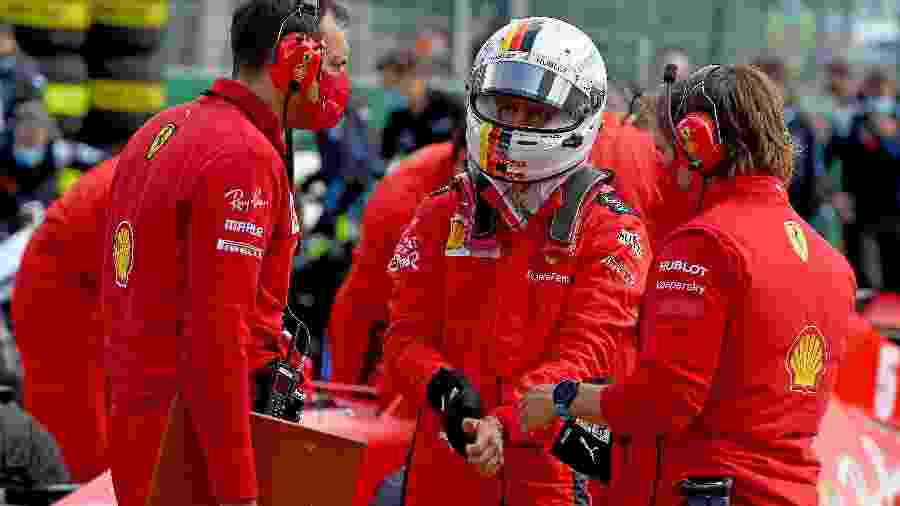Sebastian Vettel após ser 13º no GP da Bélgica com a Ferrari - Scuderia Ferrari Press Office