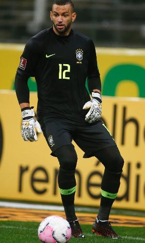 Weverton, durante a partida entre Brasil e Bolívia