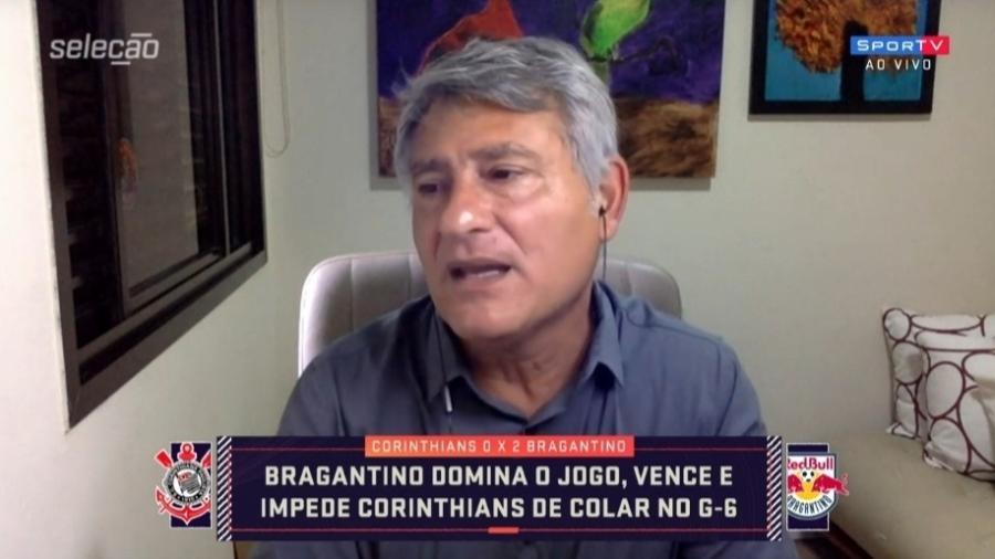"""Cléber Machado diz que Luan é um """"mistério"""" no Corinthians - Reprodução/SporTV"""