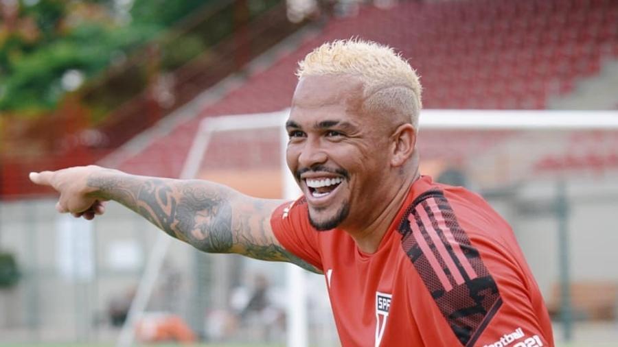 Luciano, um dos destaques do São Paulo, ficou fora de treinamento no CT da Barra Funda  - Divulgação/ São Paulo
