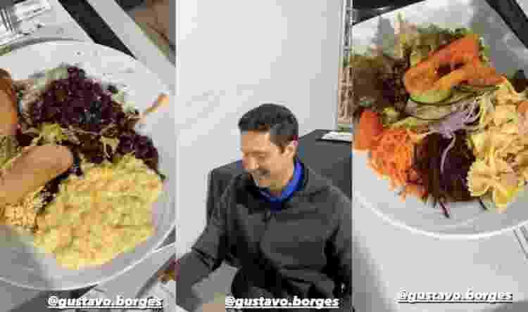 Gustavo Borges janta e Hortência brinca  - Instagram - Instagram