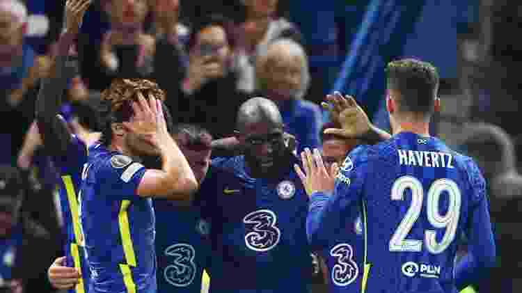 Lukaku marca o único gol do Chelsea contra o Zenit pela Liga dos Campeões - REUTERS - REUTERS