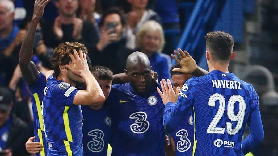 Lukaku marca o único gol do Chelsea contra o Zenit pela Liga dos Campeões - REUTERS
