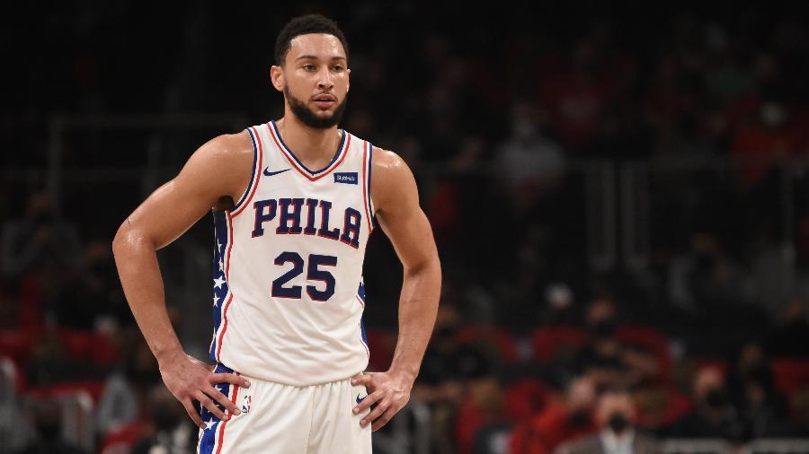 Ben Simmons foi draftado pelos 76ers em 2016 e renovou contrato há dois anos, mas já não quer seguir na equipe - David Dow/NBAE via Getty Images