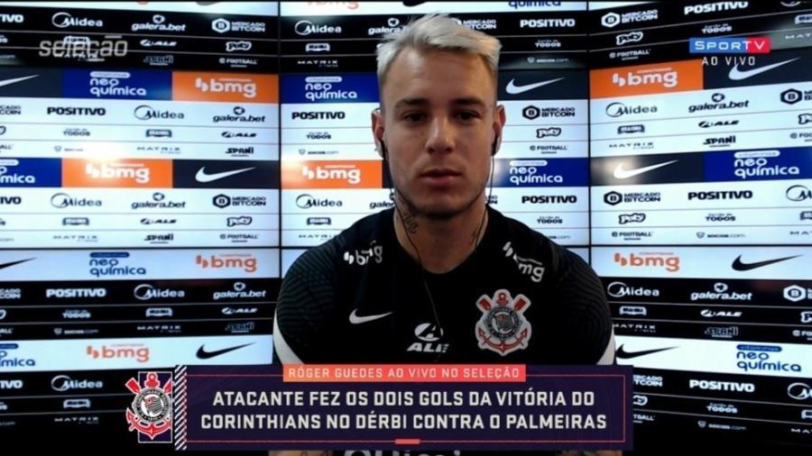 Roger Guedes nega problemas com Felipe Melo após passagem pelo Palmeiras - Reprodução/SporTV