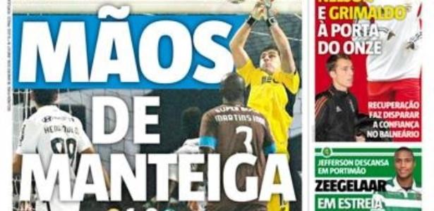Jornal Record criticou atuação de goleiro do Porto em derrota - Reprodução
