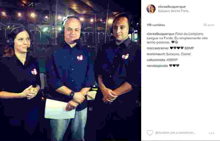 Clara Albuquerque é a única comentarista mulher em transmissões de futebol no Esporte Interativo - Reprodução/Instagram