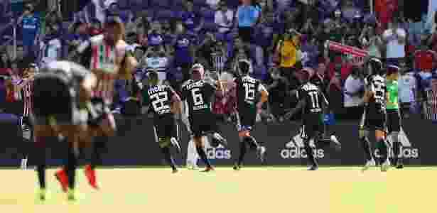 Jogadores do São Paulo comemoram gol contra o Ajax na Florida Cup - Rafael Ribeiro/Florida Cup
