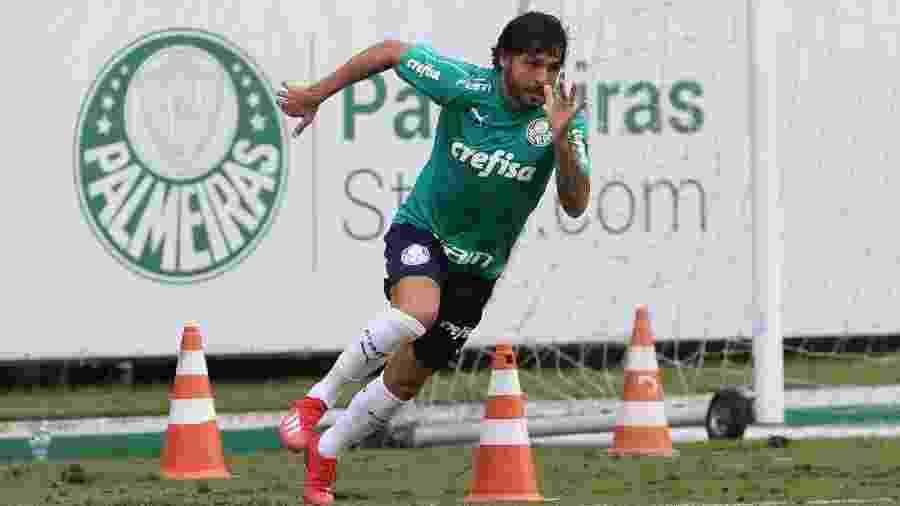 Ricardo Goulart treinou normalmente com o grupo do Palmeiras nesta terça - Cesar Greco/Ag. Palmeiras/Divulgação