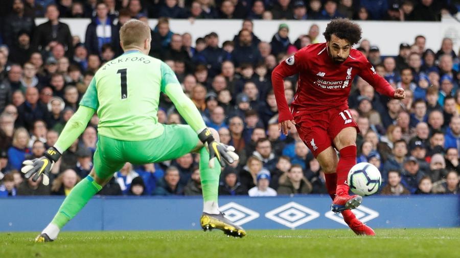 Pickford salva o Everton em chute de Salah -  Reuters/Carl Recine