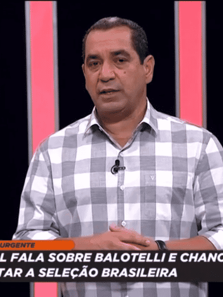 Zinho, comentarista dos canais Fox Sports - Reprodução/Fox Sports