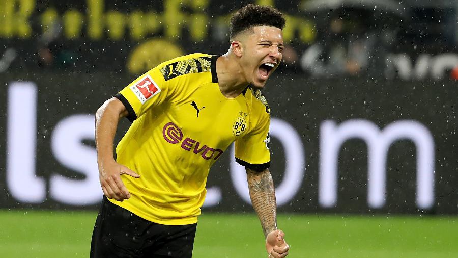 """Jadon Sancho, do Borussia Dortmund, """"não é fácil de lidar"""", segundo dirigente - Joachim Bywaletz/Xinhua"""