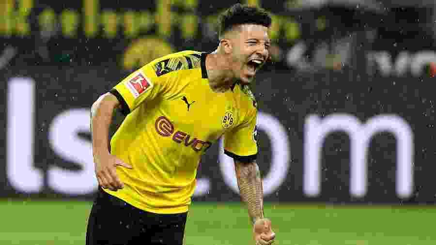 Jadon Sancho, do Borussia Dortmund, está na mira de vários clubes - Joachim Bywaletz/Xinhua