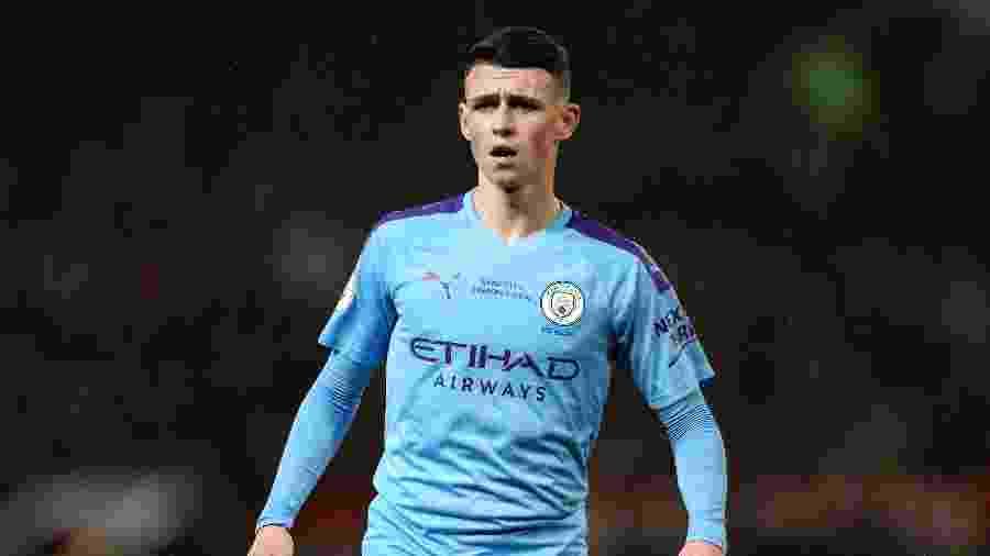 Phil Foden, meio-campo do Manchester City, foi advertido pelo clube após não respeitar distanciamento social - Matt McNulty/Manchester City FC via Getty Images