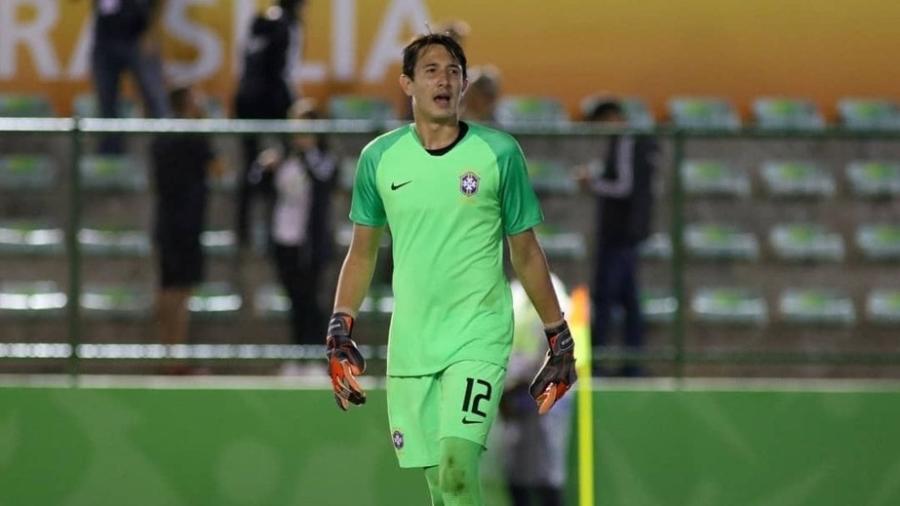 Marcelo Pitaluga é goleiro da seleção brasileira sub-17 e joia do Fluminense - Divulgação/CBF