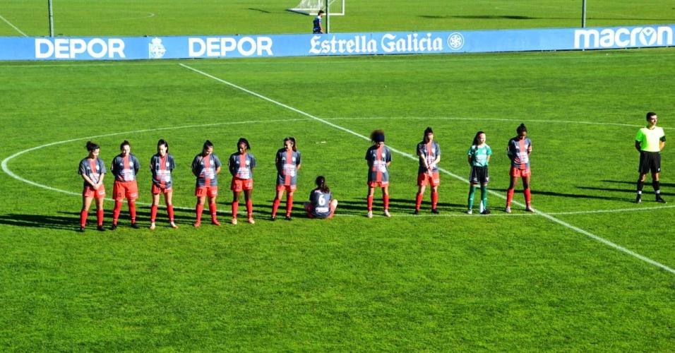 Paula Dapena protestou contra Maradona durante um jogo na Espanha