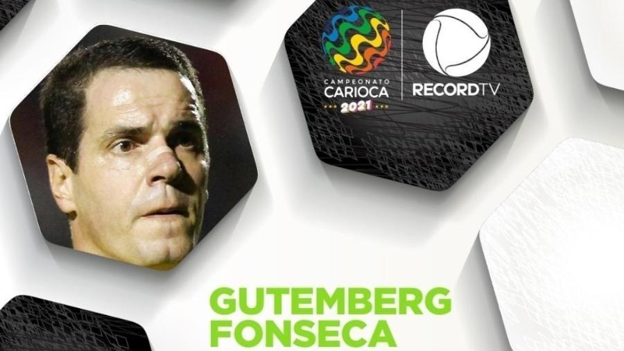 Gutemberg de Paula em anúncio do Carioca na Record: ex-árbitro foi secretário de Crivella e é articulador de Bolsonaro no Rio - Reprodução/Record Rio
