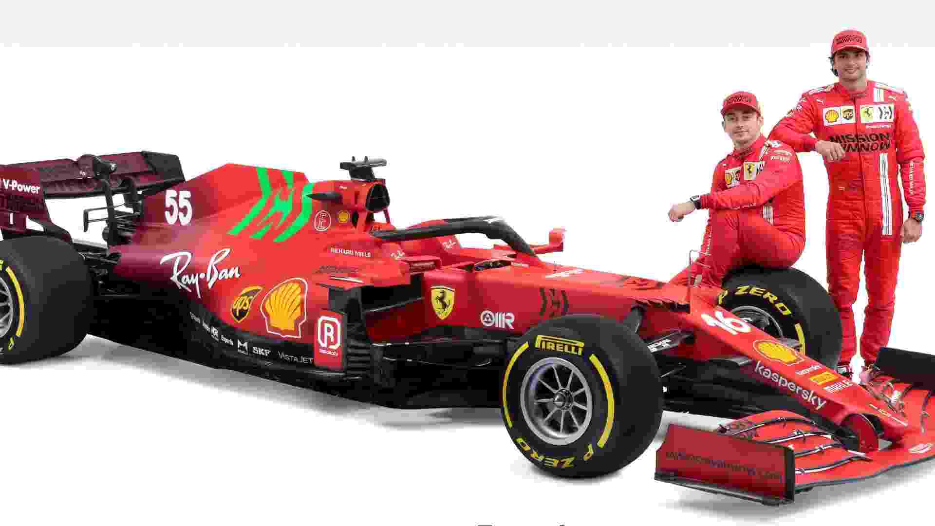 Ferrari terá Charles Leclerc ao lado de Carlos Sainz na temporada 2021 da F1 - Ferrari/Divulgação