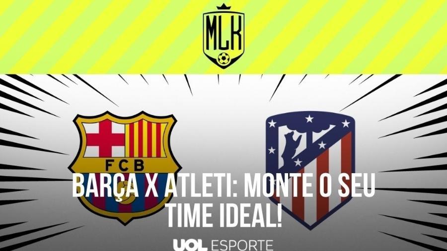 O confronto entre Barcelona e Atlético de Madri é fundamental para o título do Campeonato Espanhol - Arte/UOL