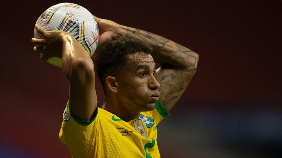 O lateral-direito Danilo durante jogo da seleção brasileira contra a Venezuela, pela Copa América - Lucas Figueiredo/CBF