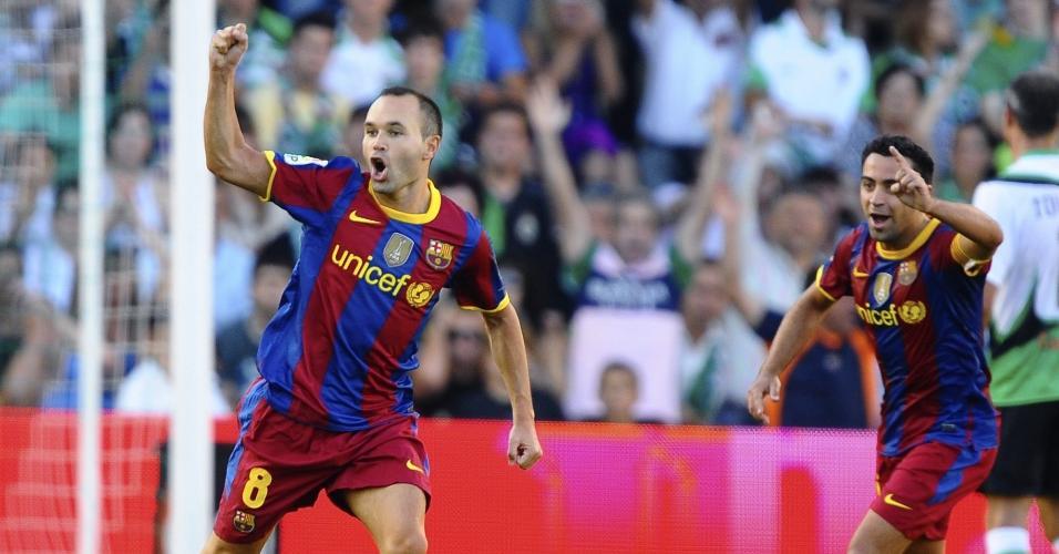 Xavi e Iniesta foram finalistas da Bola de Ouro de 2010