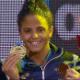 Etiene Medeiros conquista bi mundial dos 50 m costas em piscina curta - Reprodução