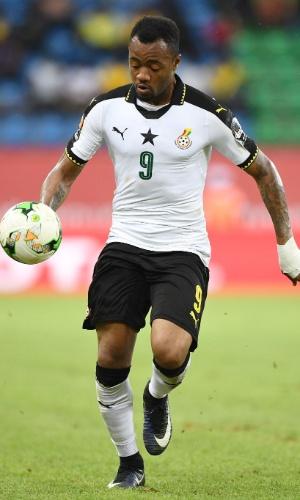 Jordan Ayew, da seleção de Gana, na Copa Africana de Nações 2017