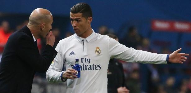 Zidane poupará Cristiano Ronaldo de jogo nesta quarta-feira