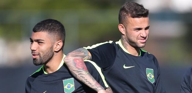 Gabigol e Luan formaram ataque da seleção olímpica com Neymar e Gabriel Jesus