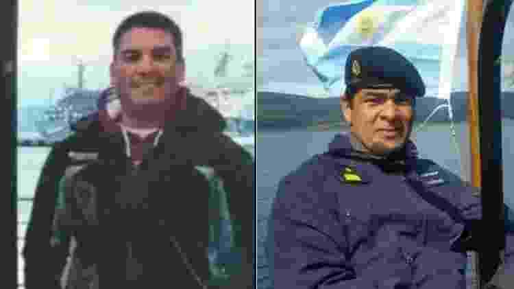 Celso Oscar Vallejos e Victor Hugo Coronel submarino argentina - Reprodução/Facebook - Reprodução/Facebook