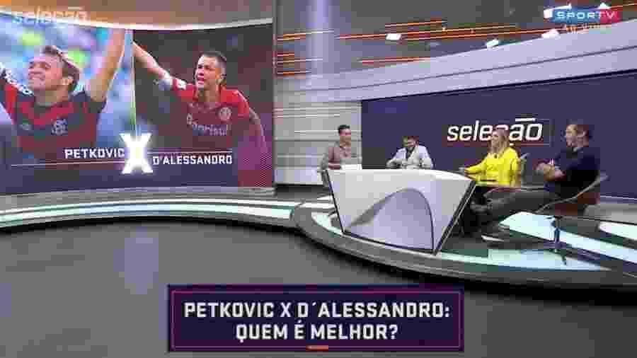 """Seleção SporTV compara Petkovic e D""""Alessandro - Reprodução/SporTV"""