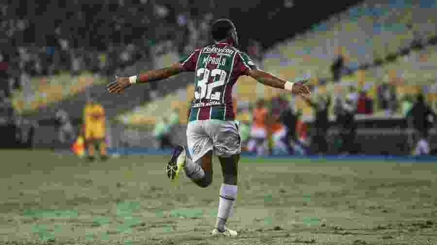 Marcos Paulo comemora gol do Fluminense contra o Palmeiras - LUCAS MERÇON/ FLUMINENSE F.C