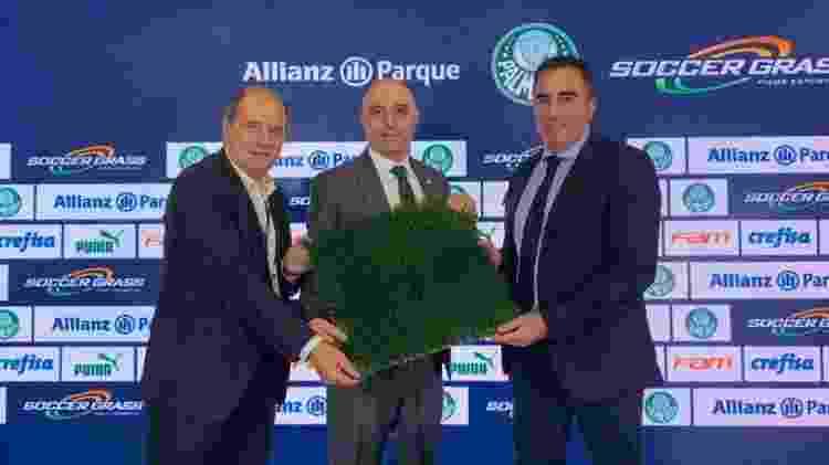 WTorre, Palmeiras e Soccer Grass prometem a melhor tecnologia do mundo no gramado do Allianz Parque - Cesar Greco/Ag. Palmeiras