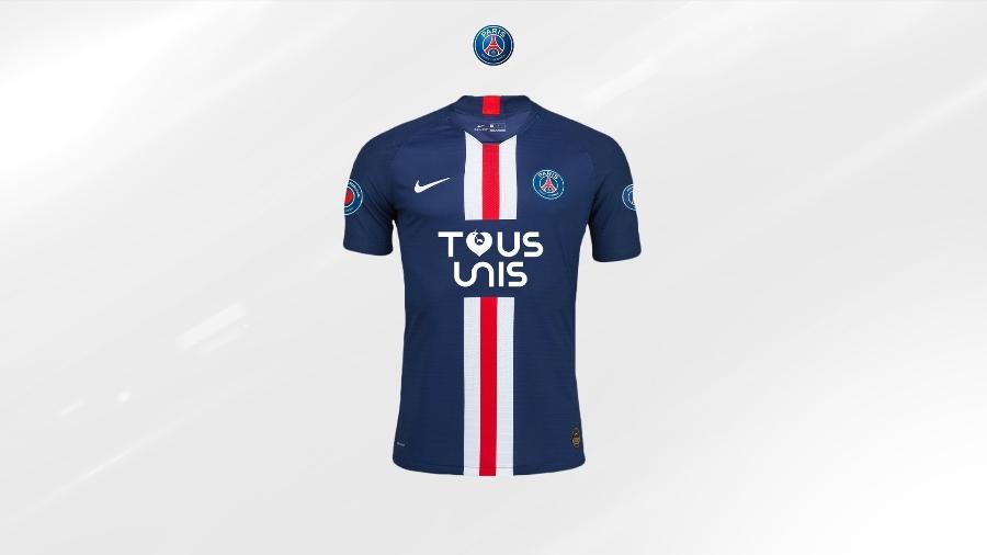 PSG lançou camisas em edição limitada para ajudar hospitais franceses no combate à covid-19 - Reprodução/Twitter