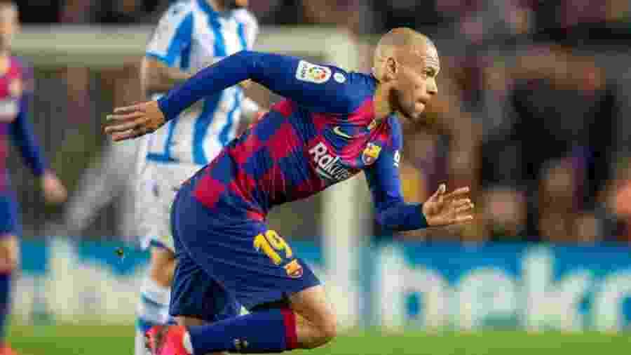 Martin Braithwaite durante partida do Barcelona - Tim Clayton - Corbis/Corbis via Getty Images