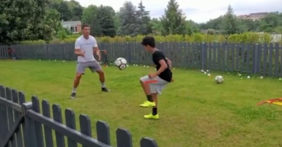 Cristiano Ronaldo e o filho mais velho, Cristiano Jr.
