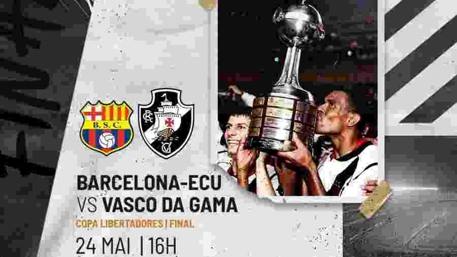 Globo reprisou neste domingo (24) a final da Libertadores de 98, onde o Vasco venceu o Barcelona (EQU) - Divulgação / Vasco