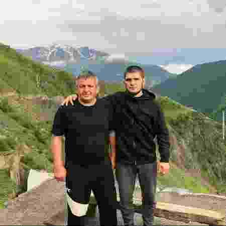 Khabib Nurmagomedov, ao lado do pai, Abdulmanap - Reprodução/Instagram